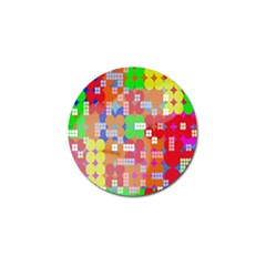 Abstract Polka Dot Pattern Digitally Created Abstract Background Pattern With An Urban Feel Golf Ball Marker (10 Pack)