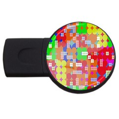 Abstract Polka Dot Pattern Digitally Created Abstract Background Pattern With An Urban Feel Usb Flash Drive Round (2 Gb) by Simbadda