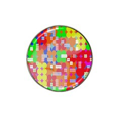 Abstract Polka Dot Pattern Digitally Created Abstract Background Pattern With An Urban Feel Hat Clip Ball Marker (4 Pack)