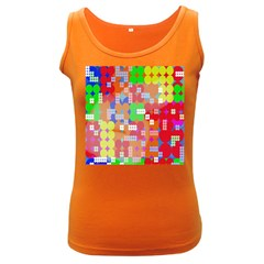 Abstract Polka Dot Pattern Digitally Created Abstract Background Pattern With An Urban Feel Women s Dark Tank Top