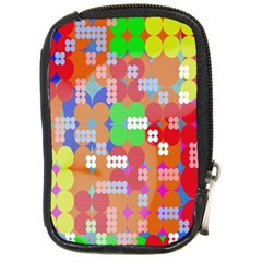 Abstract Polka Dot Pattern Digitally Created Abstract Background Pattern With An Urban Feel Compact Camera Cases by Simbadda