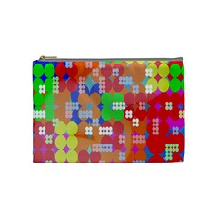 Abstract Polka Dot Pattern Digitally Created Abstract Background Pattern With An Urban Feel Cosmetic Bag (medium)  by Simbadda