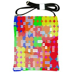 Abstract Polka Dot Pattern Digitally Created Abstract Background Pattern With An Urban Feel Shoulder Sling Bags by Simbadda