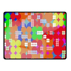 Abstract Polka Dot Pattern Digitally Created Abstract Background Pattern With An Urban Feel Fleece Blanket (small) by Simbadda