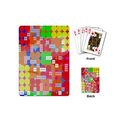 Abstract Polka Dot Pattern Digitally Created Abstract Background Pattern With An Urban Feel Playing Cards (mini)