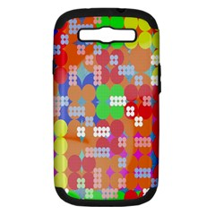Abstract Polka Dot Pattern Digitally Created Abstract Background Pattern With An Urban Feel Samsung Galaxy S Iii Hardshell Case (pc+silicone) by Simbadda