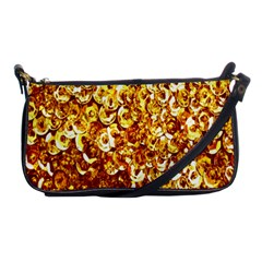 Yellow Abstract Background Shoulder Clutch Bags by Simbadda