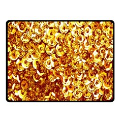 Yellow Abstract Background Fleece Blanket (small) by Simbadda