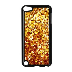 Yellow Abstract Background Apple Ipod Touch 5 Case (black) by Simbadda