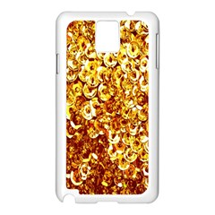 Yellow Abstract Background Samsung Galaxy Note 3 N9005 Case (white)