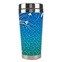 Floral 2d Illustration Background Stainless Steel Travel Tumblers by Simbadda