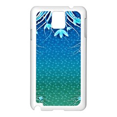 Floral 2d Illustration Background Samsung Galaxy Note 3 N9005 Case (white) by Simbadda