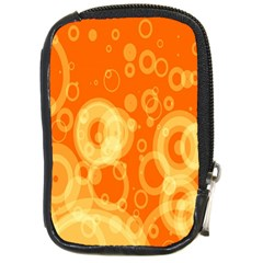 Retro Orange Circle Background Abstract Compact Camera Cases by Nexatart