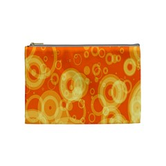 Retro Orange Circle Background Abstract Cosmetic Bag (medium)  by Nexatart