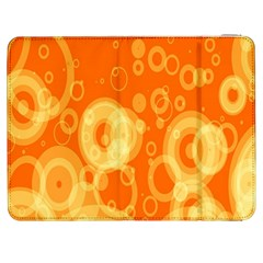 Retro Orange Circle Background Abstract Samsung Galaxy Tab 7  P1000 Flip Case