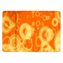 Retro Orange Circle Background Abstract Samsung Galaxy Tab 10 1  P7500 Flip Case by Nexatart