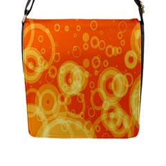 Retro Orange Circle Background Abstract Flap Messenger Bag (l)  by Nexatart