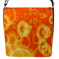 Retro Orange Circle Background Abstract Flap Messenger Bag (s) by Nexatart
