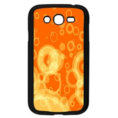 Retro Orange Circle Background Abstract Samsung Galaxy Grand Duos I9082 Case (black) by Nexatart