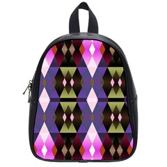 Geometric Abstract Background Art School Bags (small)  by Nexatart