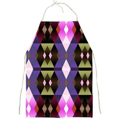 Geometric Abstract Background Art Full Print Aprons by Nexatart