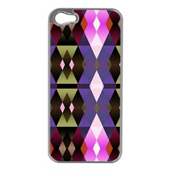 Geometric Abstract Background Art Apple Iphone 5 Case (silver)