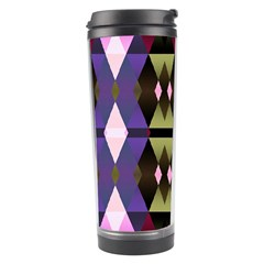 Geometric Abstract Background Art Travel Tumbler by Nexatart