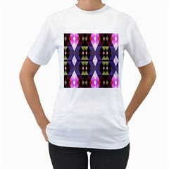 Geometric Abstract Background Art Women s T Shirt (white)  by Nexatart