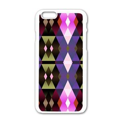 Geometric Abstract Background Art Apple Iphone 6/6s White Enamel Case by Nexatart
