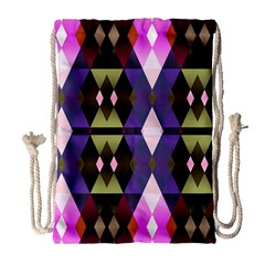 Geometric Abstract Background Art Drawstring Bag (large) by Nexatart