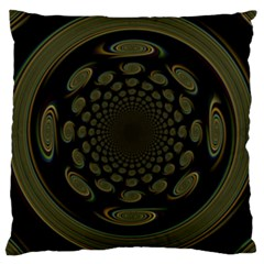 Dark Portal Fractal Esque Background Large Cushion Case (two Sides) by Nexatart