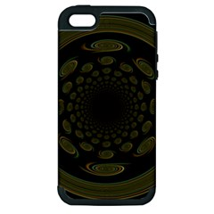 Dark Portal Fractal Esque Background Apple Iphone 5 Hardshell Case (pc+silicone) by Nexatart