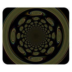 Dark Portal Fractal Esque Background Double Sided Flano Blanket (small)  by Nexatart