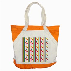 Stripes And Polka Dots Colorful Pattern Wallpaper Background Accent Tote Bag by Nexatart