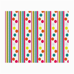 Stripes And Polka Dots Colorful Pattern Wallpaper Background Small Glasses Cloth (2 Side) by Nexatart