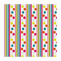 Stripes And Polka Dots Colorful Pattern Wallpaper Background Medium Glasses Cloth by Nexatart