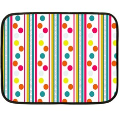 Stripes And Polka Dots Colorful Pattern Wallpaper Background Double Sided Fleece Blanket (mini)  by Nexatart