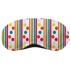 Stripes And Polka Dots Colorful Pattern Wallpaper Background Sleeping Masks by Nexatart