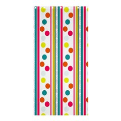 Stripes And Polka Dots Colorful Pattern Wallpaper Background Shower Curtain 36  X 72  (stall)  by Nexatart