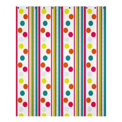 Stripes And Polka Dots Colorful Pattern Wallpaper Background Shower Curtain 60  X 72  (medium)  by Nexatart