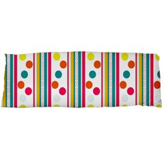 Stripes And Polka Dots Colorful Pattern Wallpaper Background Body Pillow Case (dakimakura) by Nexatart