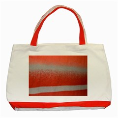 Orange Stripes Colorful Background Textile Cotton Cloth Pattern Stripes Colorful Orange Neo Classic Tote Bag (red) by Nexatart