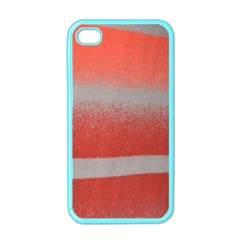 Orange Stripes Colorful Background Textile Cotton Cloth Pattern Stripes Colorful Orange Neo Apple Iphone 4 Case (color) by Nexatart