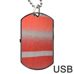 Orange Stripes Colorful Background Textile Cotton Cloth Pattern Stripes Colorful Orange Neo Dog Tag Usb Flash (two Sides) by Nexatart