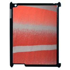 Orange Stripes Colorful Background Textile Cotton Cloth Pattern Stripes Colorful Orange Neo Apple Ipad 2 Case (black) by Nexatart