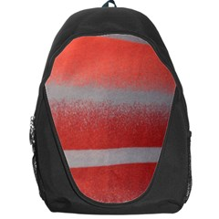 Orange Stripes Colorful Background Textile Cotton Cloth Pattern Stripes Colorful Orange Neo Backpack Bag by Nexatart