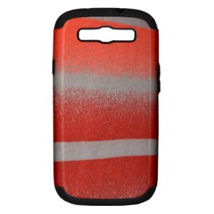 Orange Stripes Colorful Background Textile Cotton Cloth Pattern Stripes Colorful Orange Neo Samsung Galaxy S Iii Hardshell Case (pc+silicone) by Nexatart