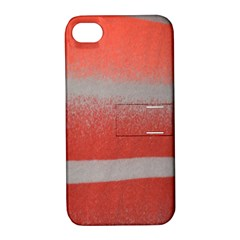 Orange Stripes Colorful Background Textile Cotton Cloth Pattern Stripes Colorful Orange Neo Apple Iphone 4/4s Hardshell Case With Stand