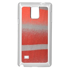 Orange Stripes Colorful Background Textile Cotton Cloth Pattern Stripes Colorful Orange Neo Samsung Galaxy Note 4 Case (white) by Nexatart
