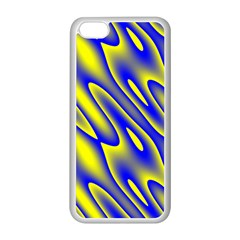 Blue Yellow Wave Abstract Background Apple Iphone 5c Seamless Case (white)